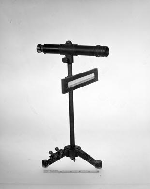 galvanometer scale on tripod stand with telescope