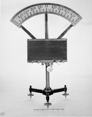 demonstration galvanometer with moving magnet