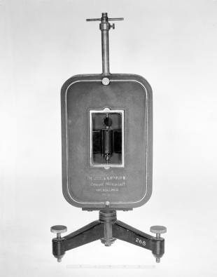 D'Arsonval wall galvanometer on stand with moving coil