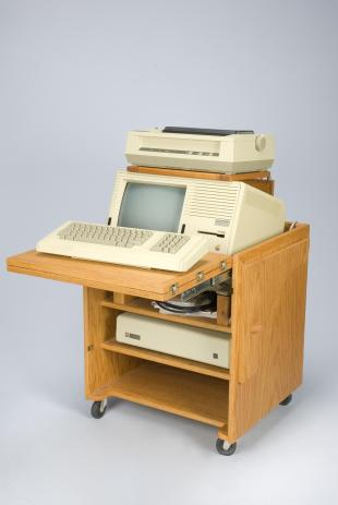 Apple Lisa 2 computer with cabinet