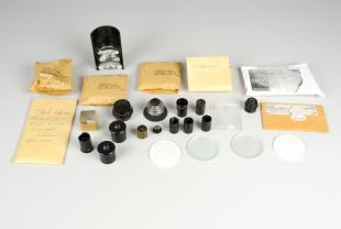 set of various optical accessories