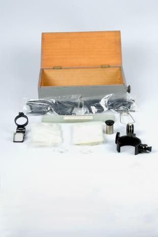 box of accessories for optical experiments
