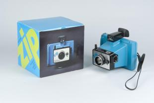 box for instant camera, Blue Electric Zip