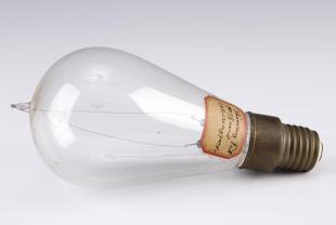 carbon filament light bulb