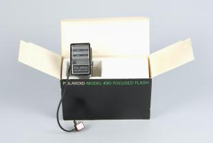 box for camera flashgun attachment for Polaroid instant cameras
