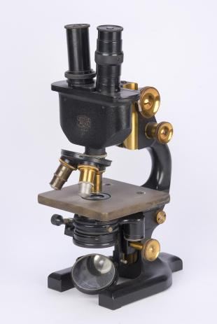 Spencer no. 2 binocular laboratory compound microscope