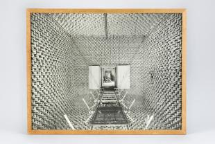 photograph of anechoic sound chamber
