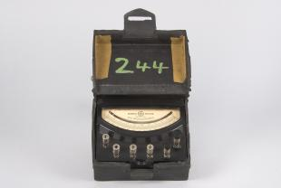 DC ammeter with five ranges