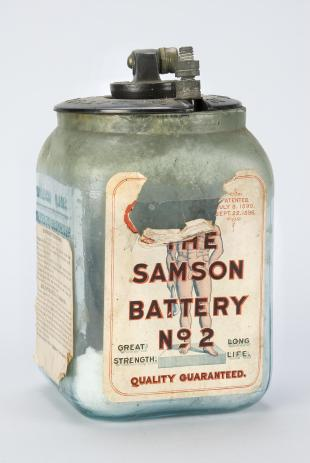 sal-ammoniac and carbon battery