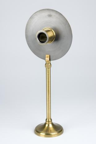 direct-vision Amici-pattern prism spectroscope on brass stand