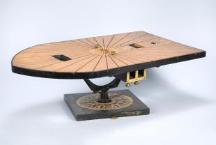 deck and large pelorus of Beall's compass deviascope