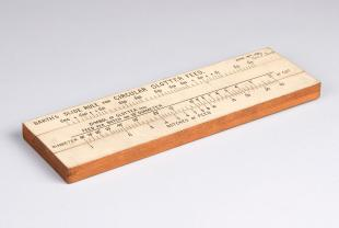 Barth's circular slotter feed slide rule