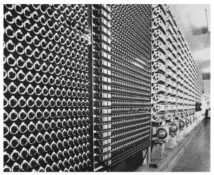 IBM ASCC-Mark I photo album: close-up of dial racks for constant inputs