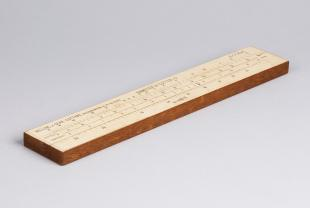 Barth's alpha slide rule for milling and gear cutting