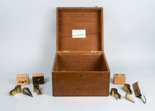 box of surveying instruments