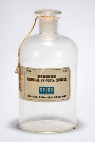 "1 gallon glass bottle ""BENZENE"" empty"