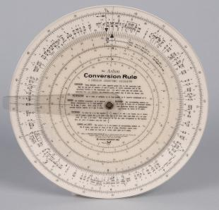 Arlton Conversion Rule circular slide rule