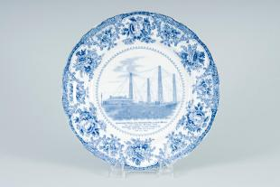 commemorative plate: 1st wireless message from Roosevelt to Edward VII, 1903