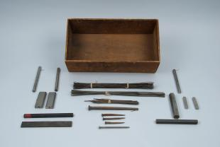 magnetic iron wire and bars in box