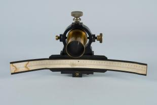 reflecting galvanometer scale with telescope sleeve and ring mount