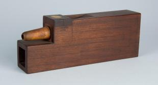 U-shaped mahogany organ pipe