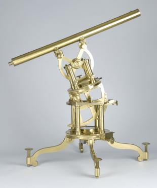 equatorially-mounted 1.5-inch refracting telescope