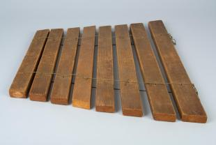 hanging wooden xylophone