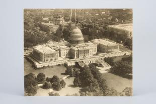 aerial photograph of U.S. Capitol building