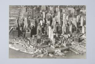 aerial photograph of Lower Manhattan