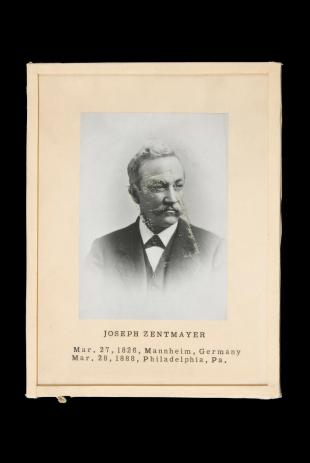 photograph of Joseph Zentmayer, framed and mounted