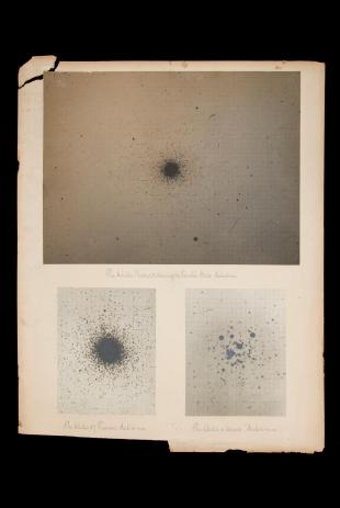 research talk illustration:  Photographs of 3 globular star clusters
