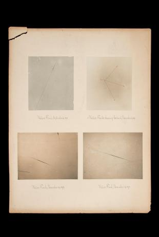 research talk illustration:  Meteor Trails, 1895 and 1898