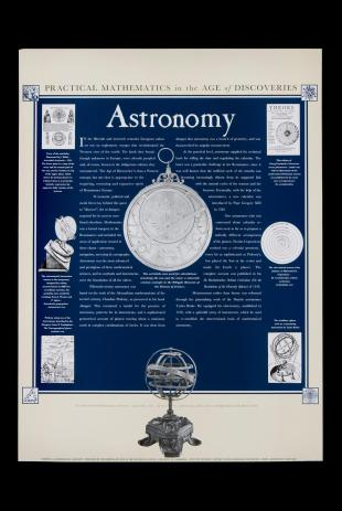 poster on early modern astronomy, Whipple Museum of the History of Science