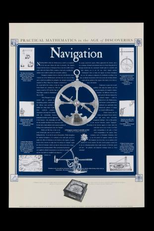 poster on early modern navigation, Whipple Museum of the History of Science
