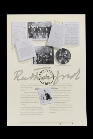 poster on Ernest Rutherford's work at McGill