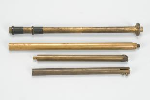 assorted upright supporting columns from instrument stands