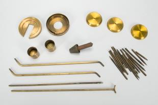 assorted points and instrument components
