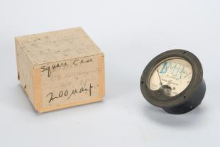 D.C. voltmeter (0-5 KV) and milliammeter (0-10)