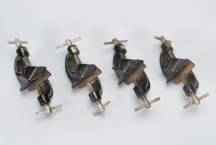 four right-angle clamps.