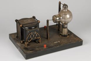 Acme mounted rectifier, oscillator, and vacuum tube for teaching