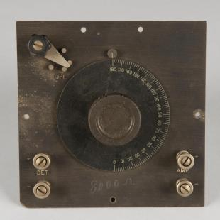 AMRAD type D short wave variometer face plate