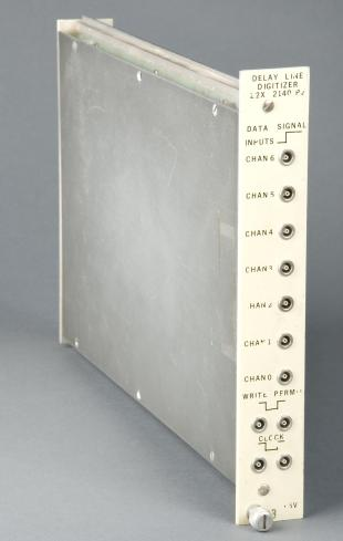 CAMAC-type delay line based multi-channel digitizer