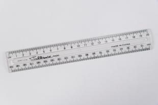 ruler, clear plastic in plastic bag