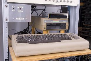 Commodore 64 computer and Commodore 1541 disk drive