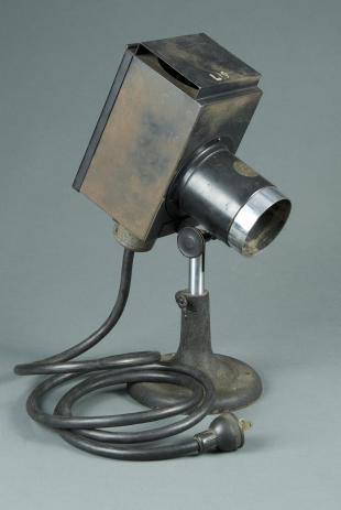B&L model A adjustable microscope lamp