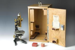 petrographic compound microscope and accessories