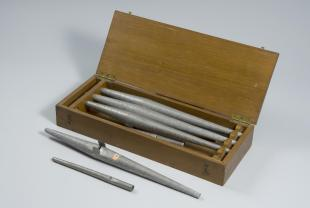 set of 8 flue organ pipes