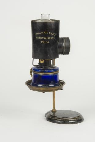Queen Acme kerosene microscope lamp